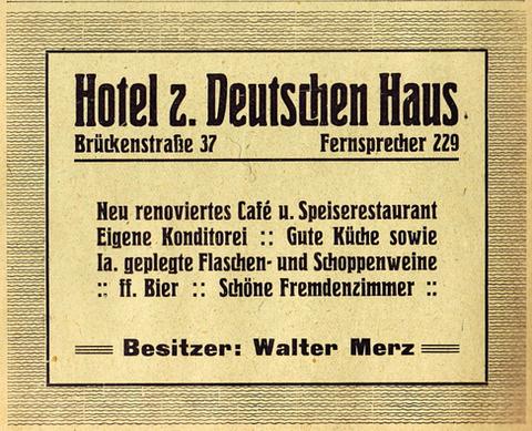Inserat Adressbuch 1925