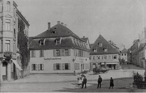 """Gasthof """"Zum Löwen"""" - hier fand am 18. Oktober 1895 die offizielle Gründungsversammlung des TV Jahn statt"""