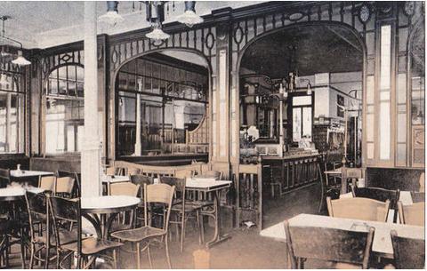 Cafe-Innenraum in der Spitalstraße
