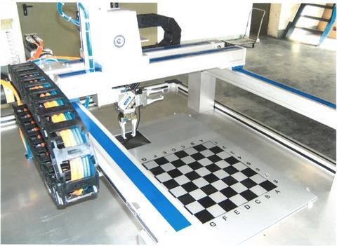 ANT-Schachroboter (Eigenentwicklung) aus ANT-Lineareinheiten und SCHEBA-Steuerung