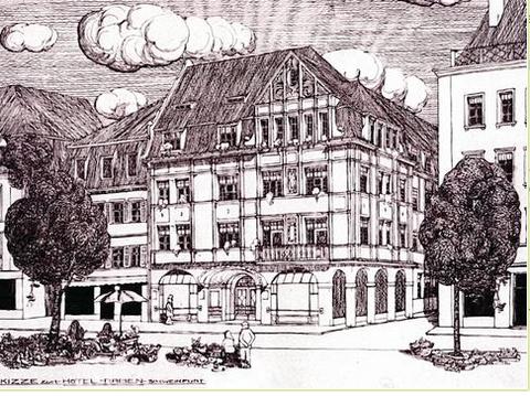Skizze für den Neubau am Markt - 1908