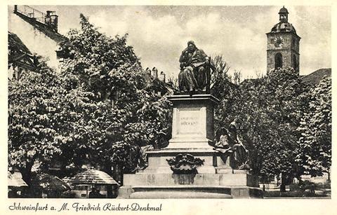 Das Friedrich-Rückert-Denkmal in Vorkriegszeit