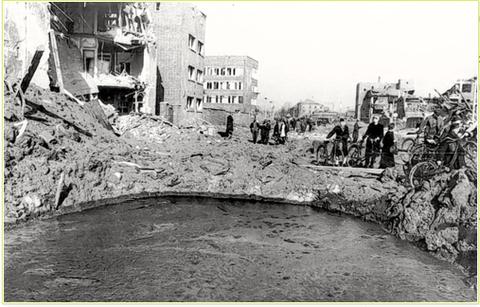 Nach einem Bombenangriff