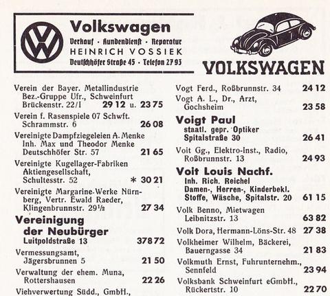 Telefonbuch 1950