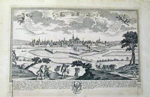 Schweinfurt um 1700 - Kupferstich von Joseph Friedrich Leopold um 1700