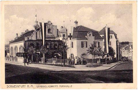 Gebäude der Turngemeinde als Lazarett 1915