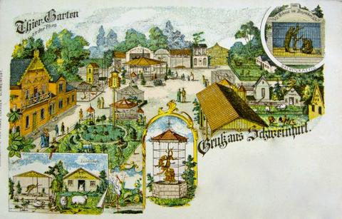 Der Schweinfurter Tiergarten in den Wehranlagen (an der Pfinz)