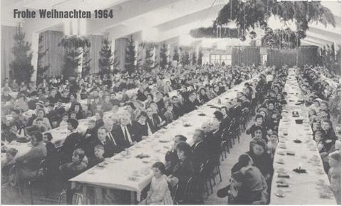 """1963: Lohntüte """"Erholungsheim der Schäfer-Werke """"Riederalp"""" bei Immenstadt – Allgäu""""  (Bild 3a, 3b Sammlung Gerhard Fiedler) 1963: Adventsschreiben, Beilage zur Lohntüte (Bild 3c, 3d, 3f Sammlung Gerhard Fiedler)"""