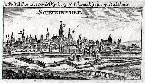 Die Staubbrücke - Kupferstich von Christoph Riegel um 1690