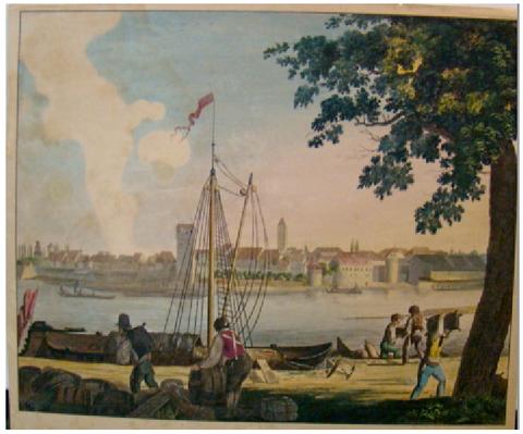 Schweinfurt im Jahre 1836 - Ansicht von Süden (Mittagsseite) von Andres Friedrich Kornacher