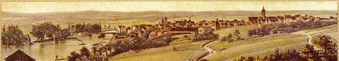 Schweinfurt vom Osten betrachtet