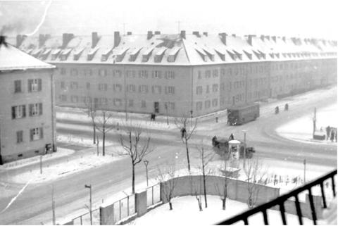 Niederwerrner Straße Schweinfurt in den 1950ern