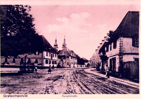 Blick zum Marktplatz um 1900