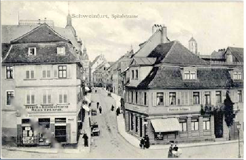 Blick vom Albrecht-Dürer-Platz in die Spitalstraße