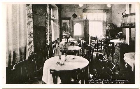 Cafe Schnaus im Apostelhaus - Danke an Frau Isolde Miller