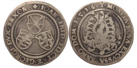 1/2 Taler aus dieser Zeit Johann II/Georg 1536