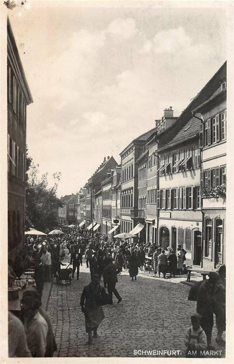 Marktplatz - Blick von Norden zum Marktplatz - Jahr unbekannt