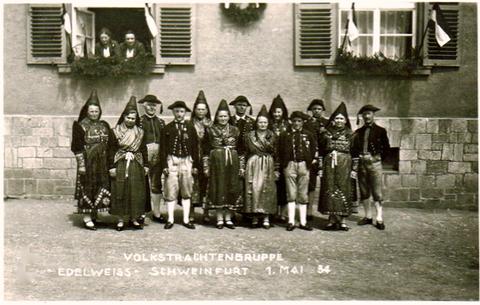 Volkstrachtengruppe Edelweiss 3. Mai 1934