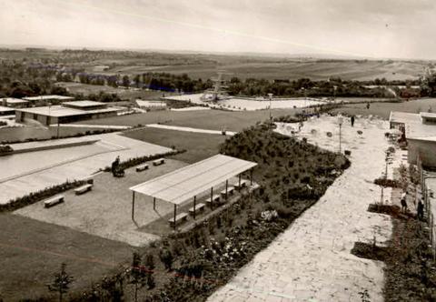 Das Sommerbad nach seiner Fertigstellung - 1958