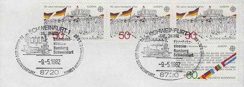Sonderstempel anlässlich des 130-jährigen Jubiläums der Bahnlinie Bamberg-Schweinfurt