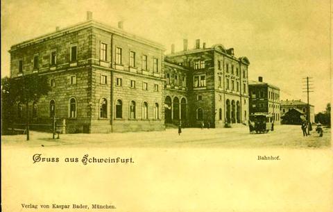 Hauptbahnhof Anfang des 20. Jhdt. mit Pferdebahn