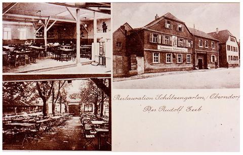 Restaurant Schützengarten des Rudolf Geeb in Oberndorf
