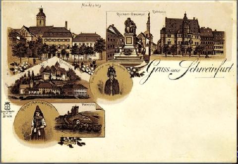 Grußkarte 1896