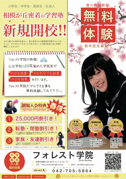 町田の学習塾 ポスティングで新規生徒募集例