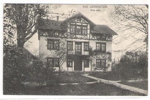 Parkstraße 15, Villa Jahn - Karte 1924 gelaufen - Archiv W.Malek