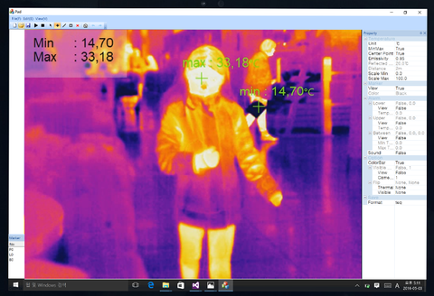 Real time thermal tracking