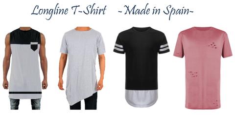 camisetas Longline T-Shirt . Fabricación de ropa personalizada.