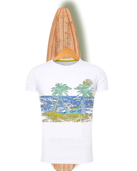 Camiseta de chico fabricada en España. Personalización de ropa en España. www.socialba.es