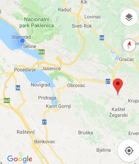 Von Starigrad ca. 30km zum Flüsschen Krupa.