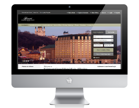 Fairmont Grand Hotel Kiev Website