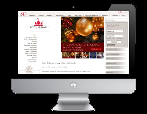 Hotel de Rome Website