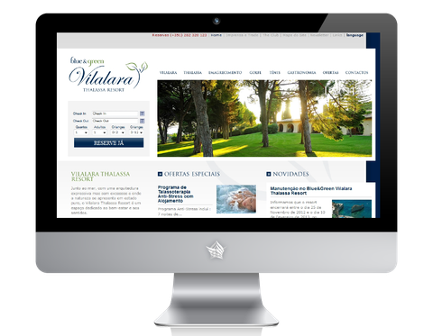 The Vilalara Thalassa Resort Hotel Website