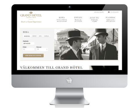 Grand Hotel Stockholm Website