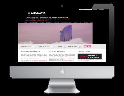 W Barcelona Hotel Website
