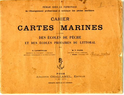Couverture du cahier de cartes marines