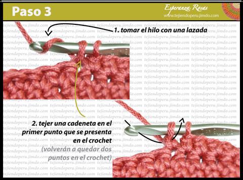 Cómo tejer el punto bajo estendido a crochet: paso 3