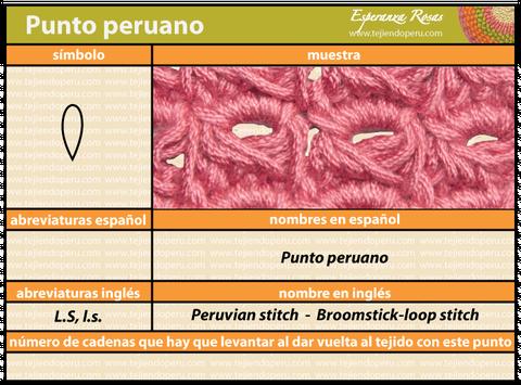 Punto peruano - Tejiendo Perú...