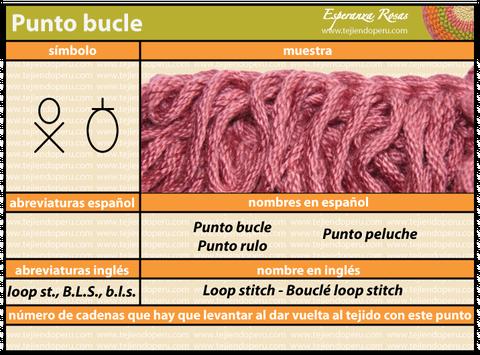 Cómo tejer el punto bucle a crochet