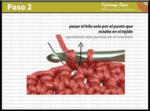 Cómo tejer el punto bajo estendido a crochet: paso 2
