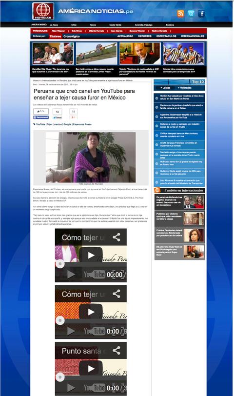 Tejiendo Perú en América Televisión Perú