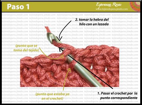 Cómo tejer el punto bajo estendido a crochet: paso 1