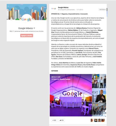 Tejiendo Perú en Google+ México