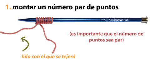 Cómo tejer en dos agujas: tejido tubular