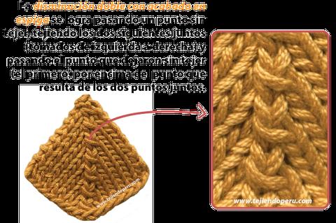 Cómo hacer disminuiones de puntos al tejer en dos agujas o palitos