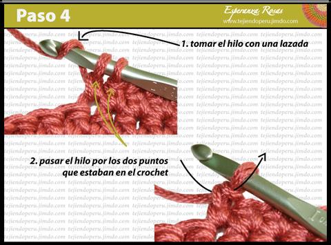 Cómo tejer el punto bajo estendido a crochet: paso 4