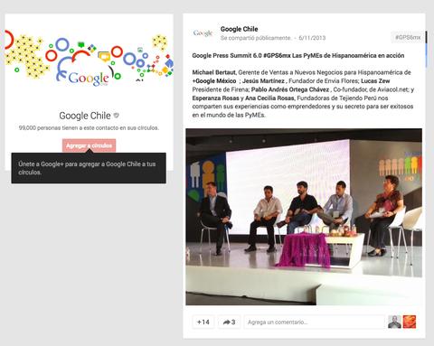 Tejiendo Perú en Google+ Chile